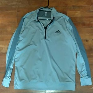 Adidas Mens Climalite pullover zip up stretchy XL